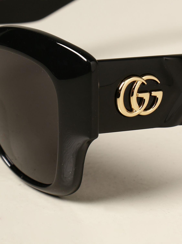 Occhiali Gucci: Occhiali da sole Gucci in acetato con logo GG nero 4