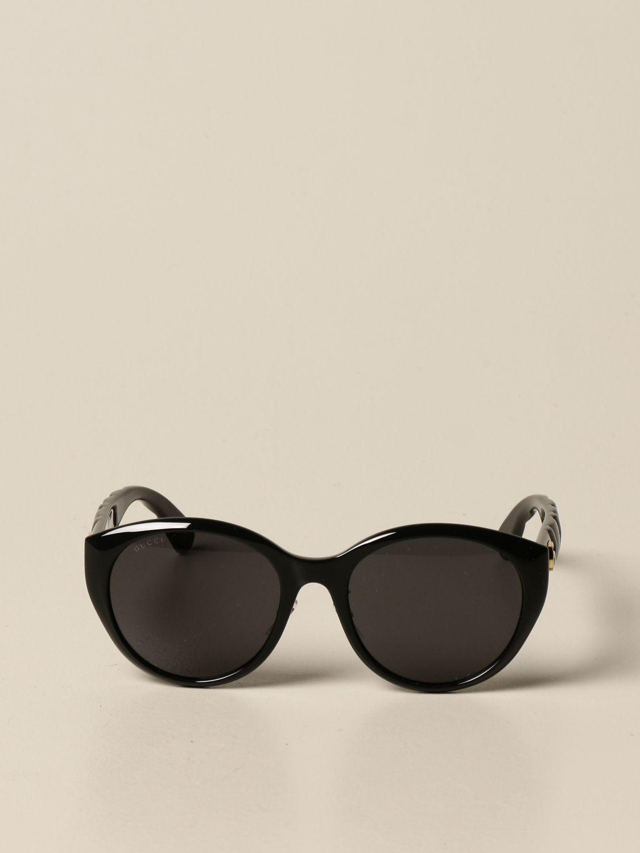 Occhiali Gucci: Occhiali da sole Gucci in acetato con logo GG nero 2