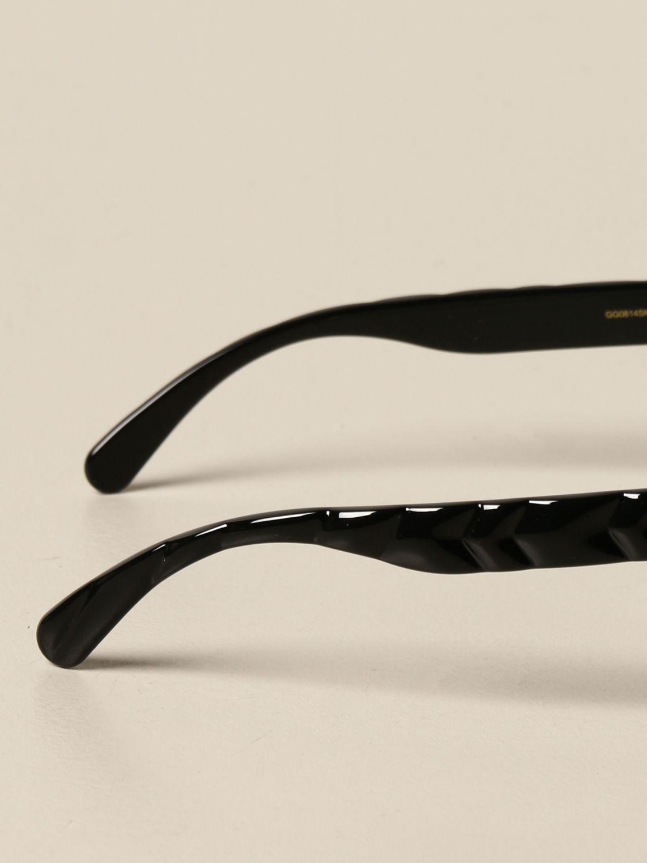 Occhiali Gucci: Occhiali da sole Gucci in acetato con logo GG nero 3