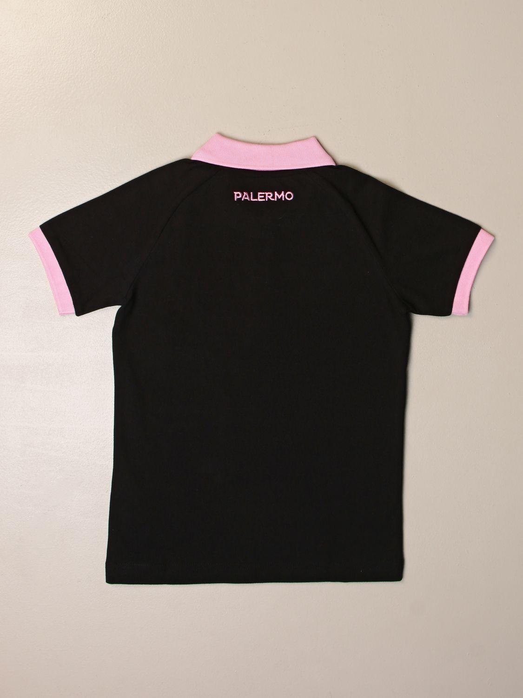 Polo Palermo: Polo avres bambino da gara kappa palermo con logo nero 2
