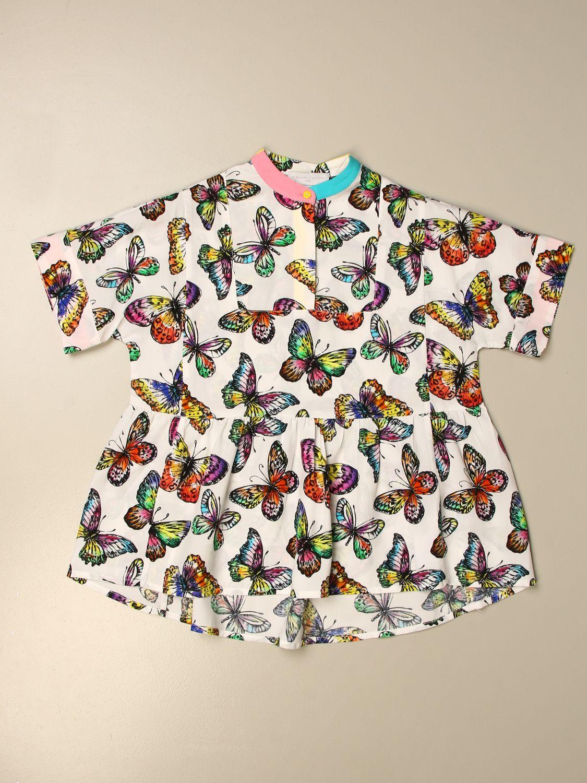 Dress Stella Mccartney: Stella McCartney shirt dress with all over butterflies white 1