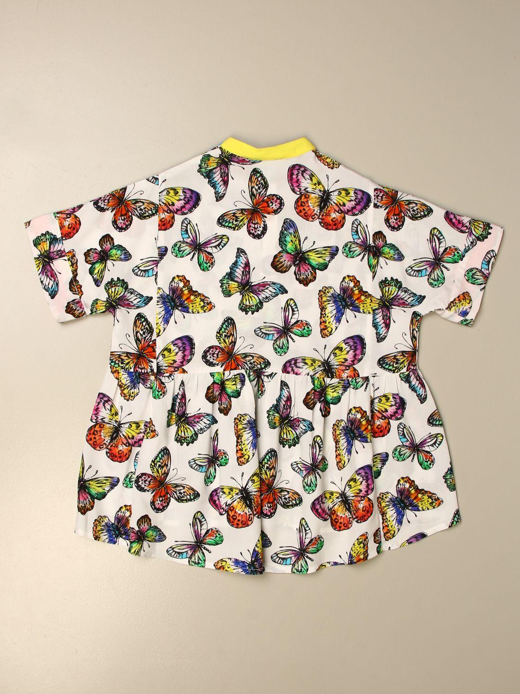 Dress Stella Mccartney: Stella McCartney shirt dress with all over butterflies white 2