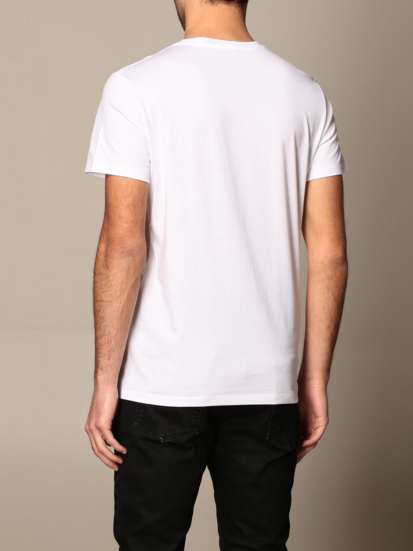 T-shirt Balmain: Balmain cotton T-shirt with laminated logo white 3