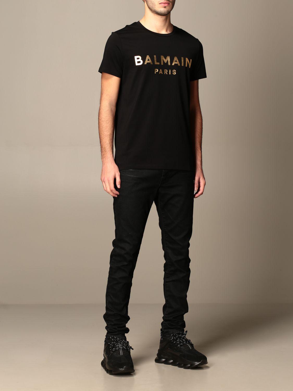 T-shirt Balmain: T-shirt homme Balmain noir 2