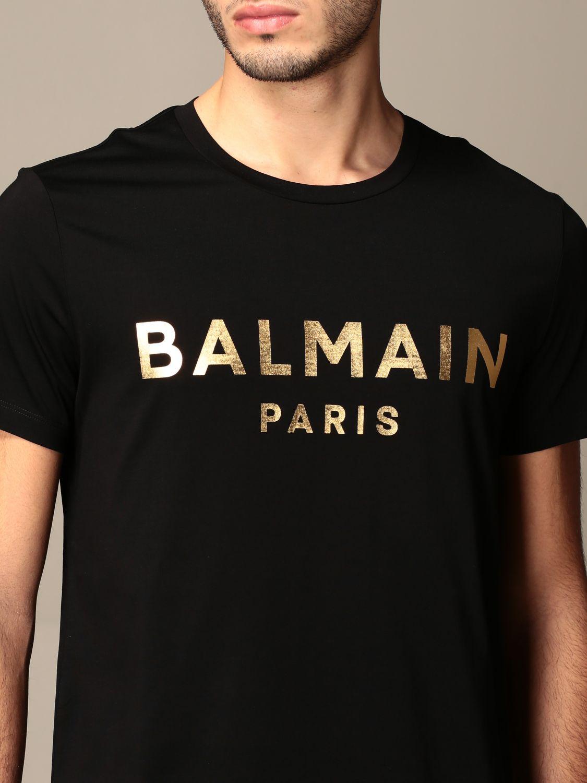 T-shirt Balmain: T-shirt homme Balmain noir 4