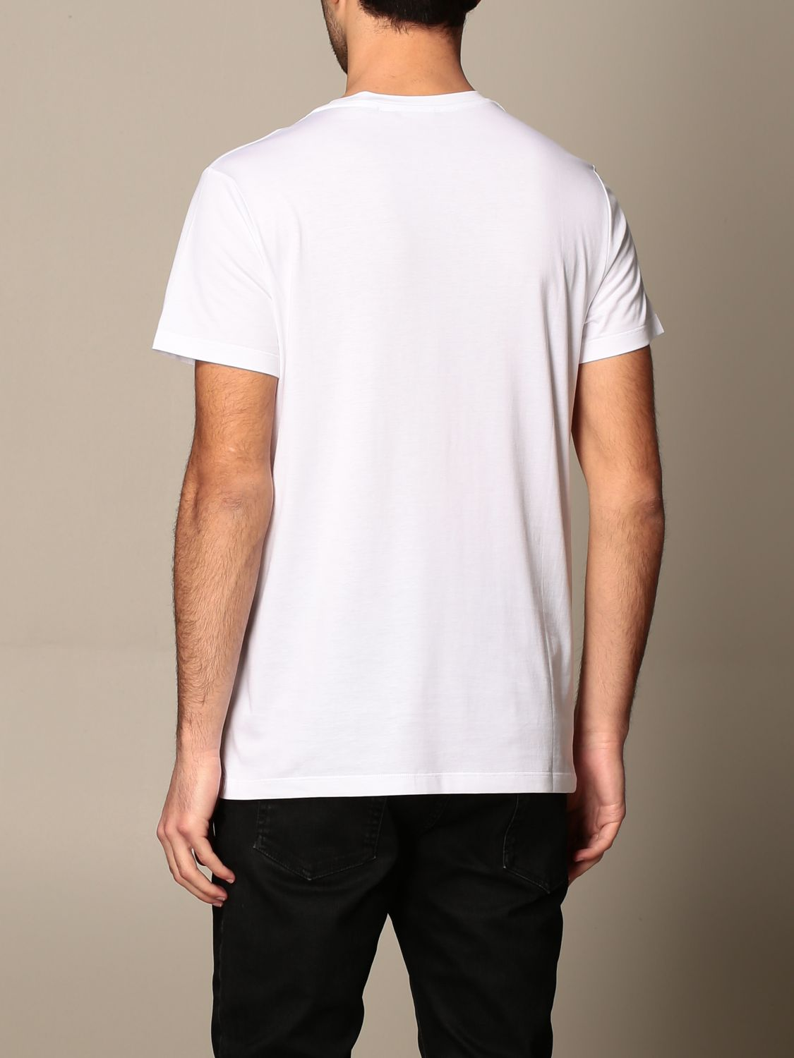 T-shirt Balmain: Balmain cotton T-shirt with laminated logo white 3