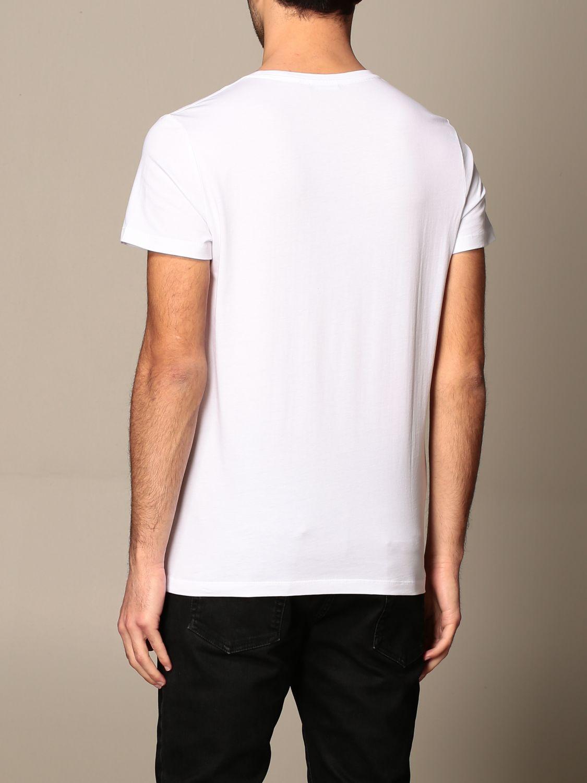 T-shirt Balmain: T-shirt Balmain in cotone con logo e stampa palme bianco 3