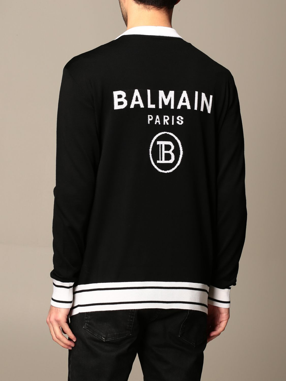 Cardigan Balmain: Pull homme Balmain noir 3