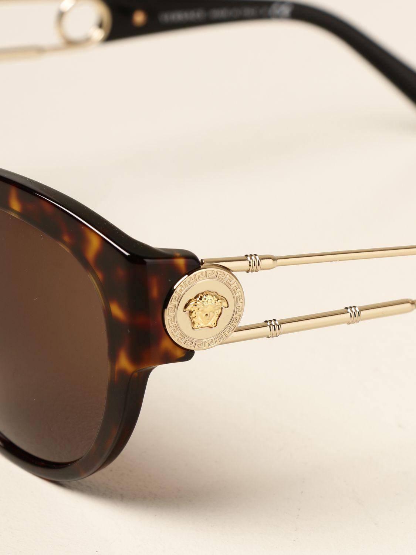 Солнцезащитные очки Versace: Солнцезащитные очки Женское Versace коричневый 4