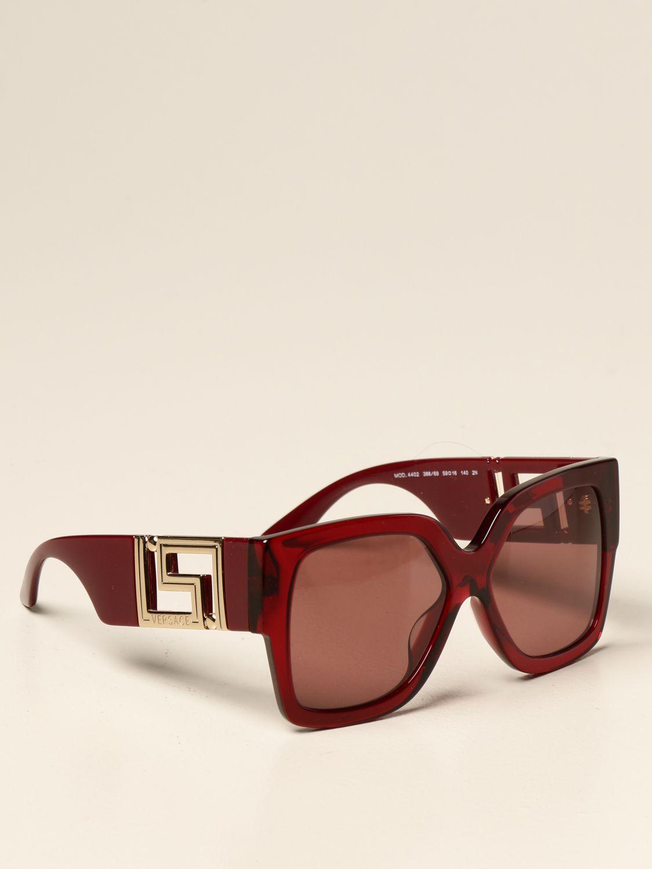 Occhiali Versace: Occhiali da sole Versace in acetato bordeaux 1
