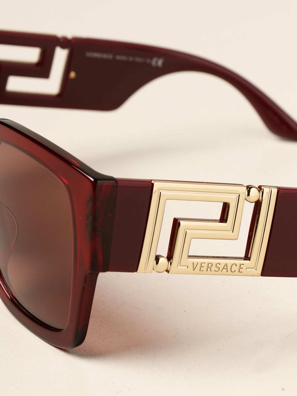 Occhiali Versace: Occhiali da sole Versace in acetato bordeaux 4