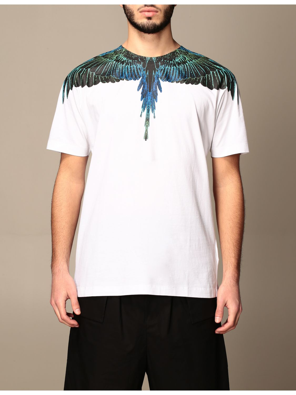T-shirt Marcelo Burlon: Marcelo Burlon cotton t-shirt with bird feathers white 1