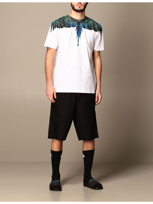 T-shirt Marcelo Burlon: Marcelo Burlon cotton t-shirt with bird feathers white 2