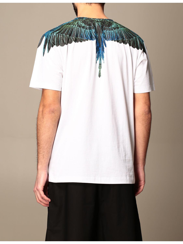 T-shirt Marcelo Burlon: Marcelo Burlon cotton t-shirt with bird feathers white 3