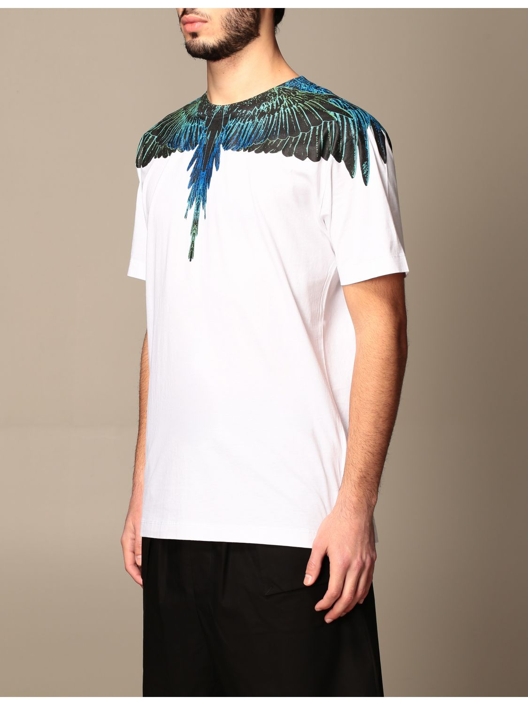 T-shirt Marcelo Burlon: Marcelo Burlon cotton t-shirt with bird feathers white 4