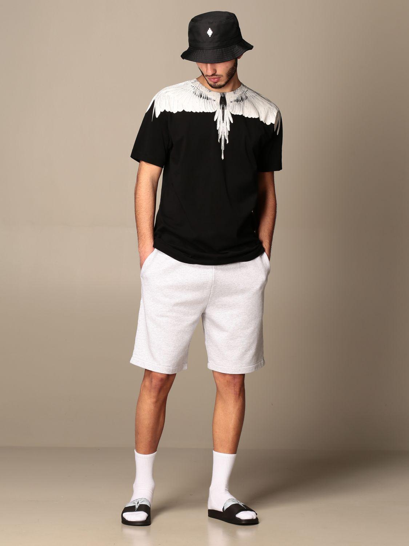 T-shirt Marcelo Burlon: T-shirt Marcelo Burlon in cotone con piume di uccelli nero 2