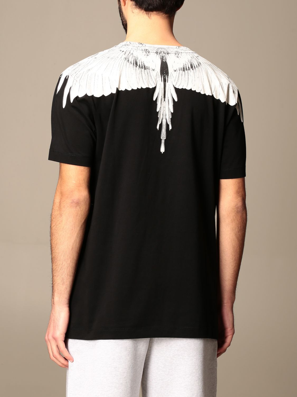 T-shirt Marcelo Burlon: T-shirt Marcelo Burlon in cotone con piume di uccelli nero 3