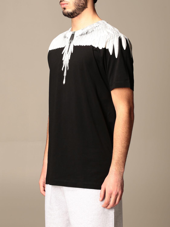 T-shirt Marcelo Burlon: T-shirt Marcelo Burlon in cotone con piume di uccelli nero 4