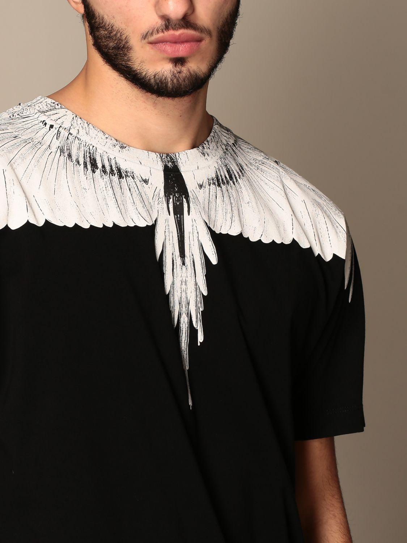 T-shirt Marcelo Burlon: T-shirt Marcelo Burlon in cotone con piume di uccelli nero 5