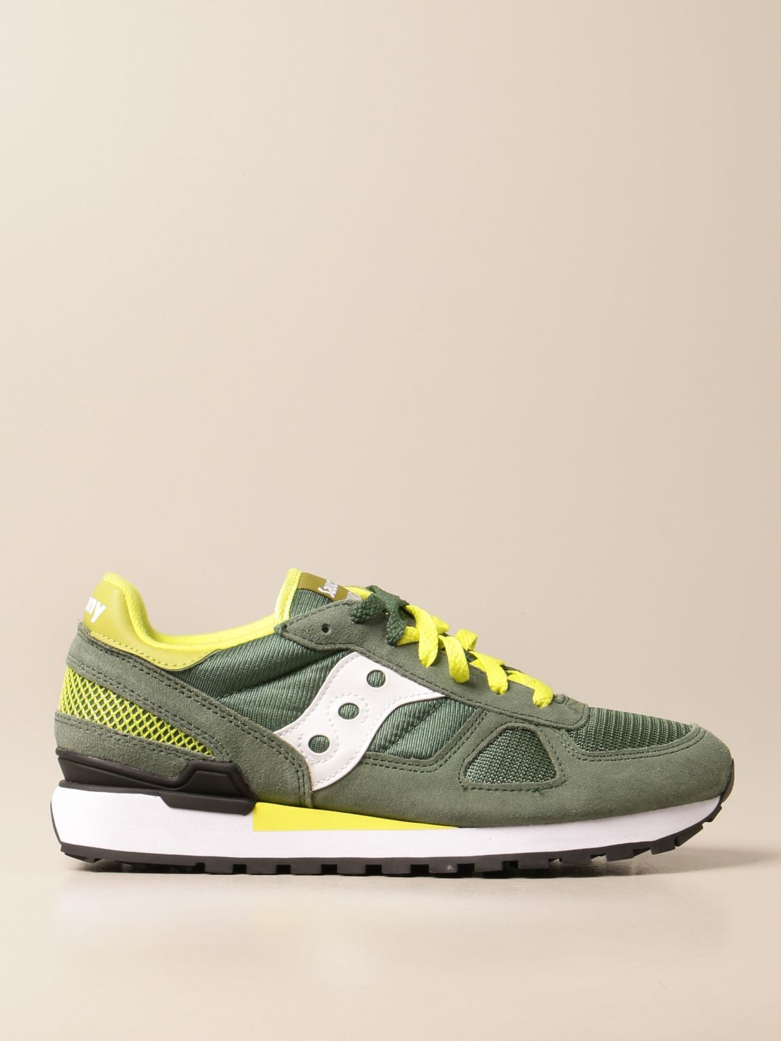 Sneakers Saucony: Saucony sneakers in synthetic suede and micro net green 1