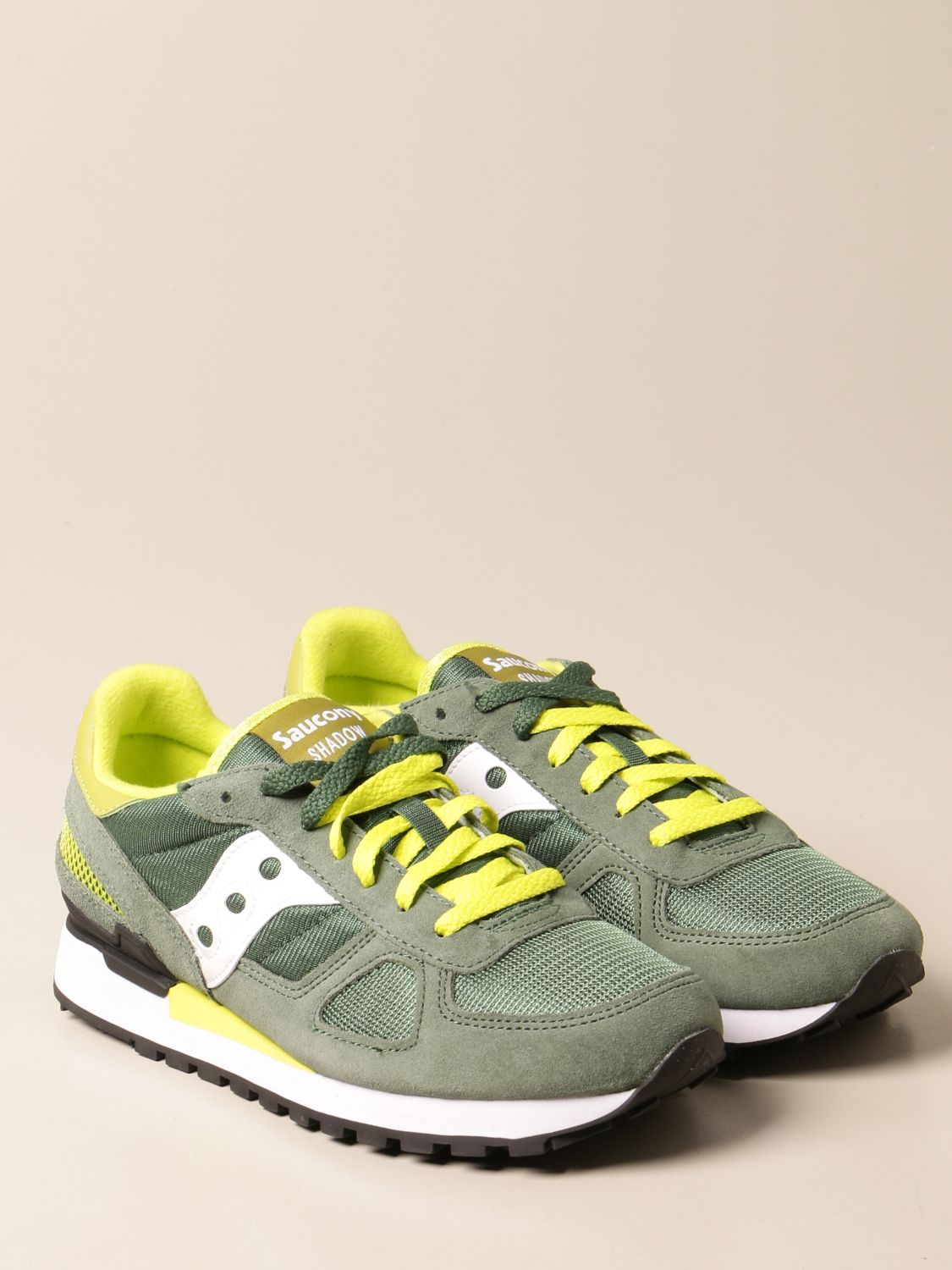 Sneakers Saucony: Saucony sneakers in synthetic suede and micro net green 2