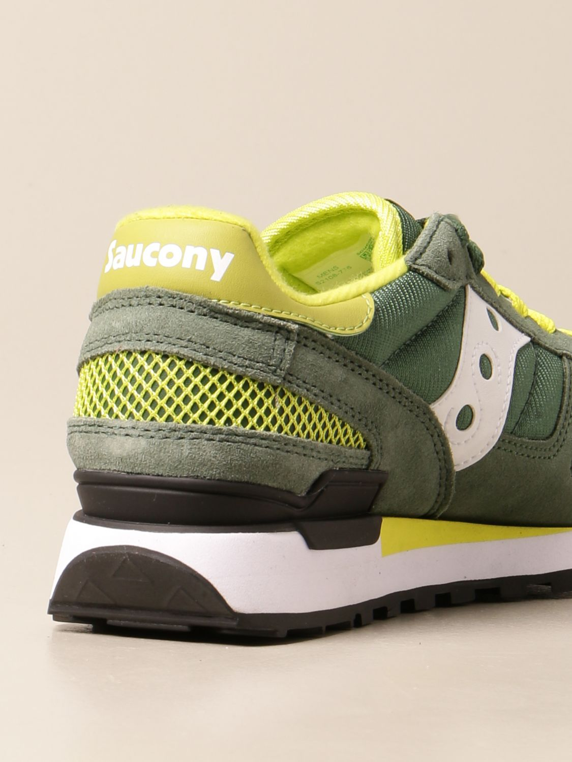 Sneakers Saucony: Saucony sneakers in synthetic suede and micro net green 3