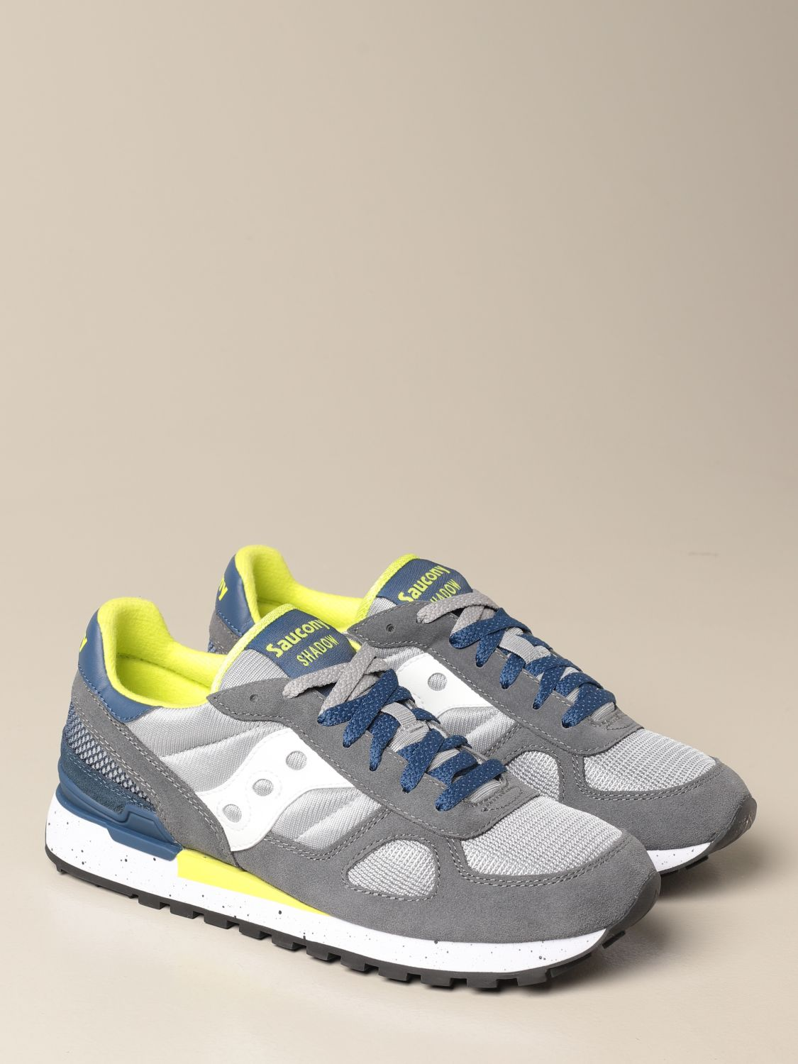 Sneakers Saucony: Saucony sneakers in synthetic suede and micro net dove grey 2