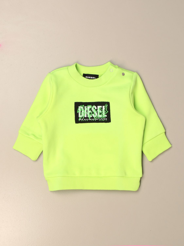 Jersey Diesel: Jersey niños Diesel verde lima 1