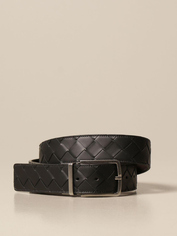 Belt Bottega Veneta: Bottega Veneta belt in woven leather 1.5 black 1