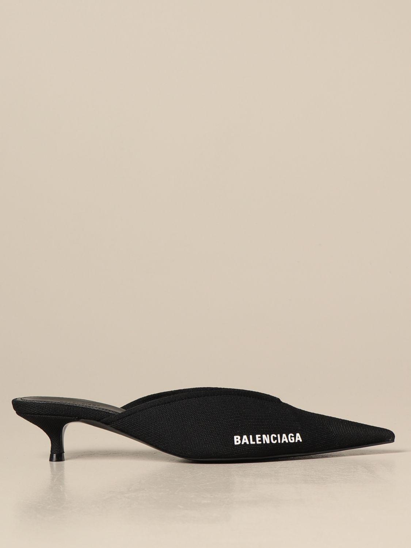 Scarpe con tacco Balenciaga: Mule Balenciaga in maglia nero 1