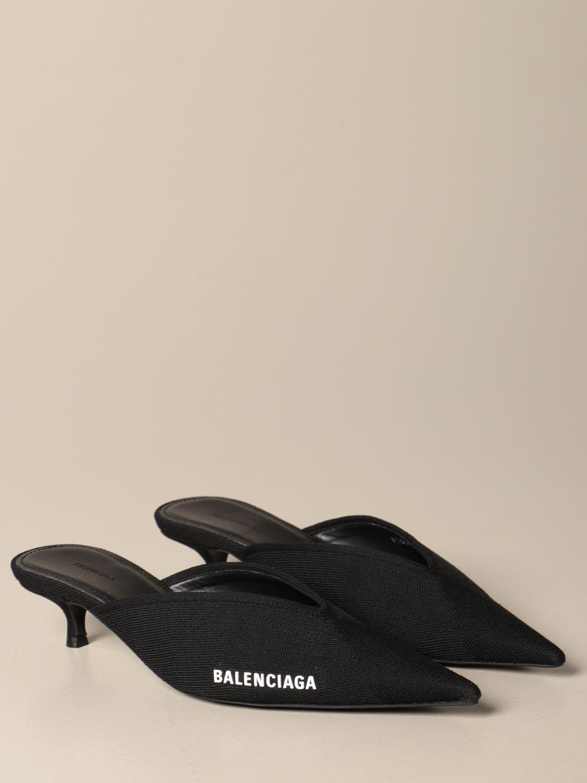 Scarpe con tacco Balenciaga: Mule Balenciaga in maglia nero 2