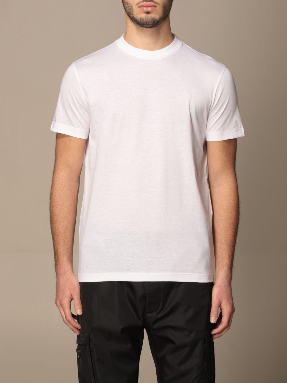 T-shirt Prada: Set 3 t-shirts Prada basic in cotone bianco 1