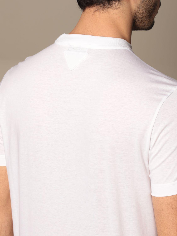 T-shirt Prada: Set 3 t-shirts Prada basic in cotone bianco 3