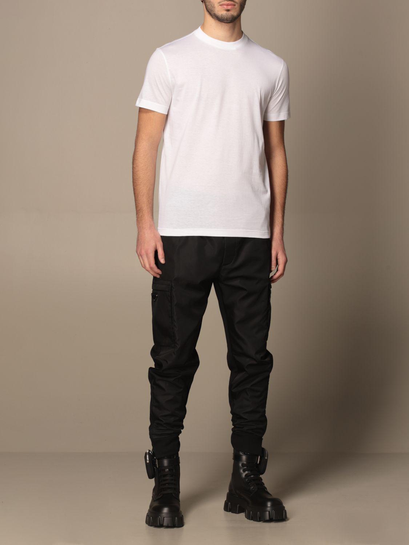 T-shirt Prada: Set 3 t-shirts Prada basic in cotone bianco 4