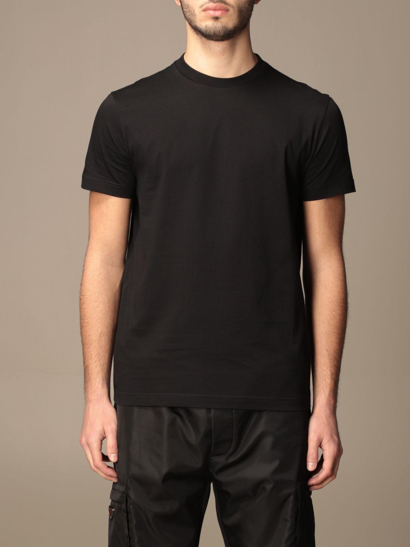 T-shirt Prada: Set 3 t-shirts Prada basic in cotone nero 1
