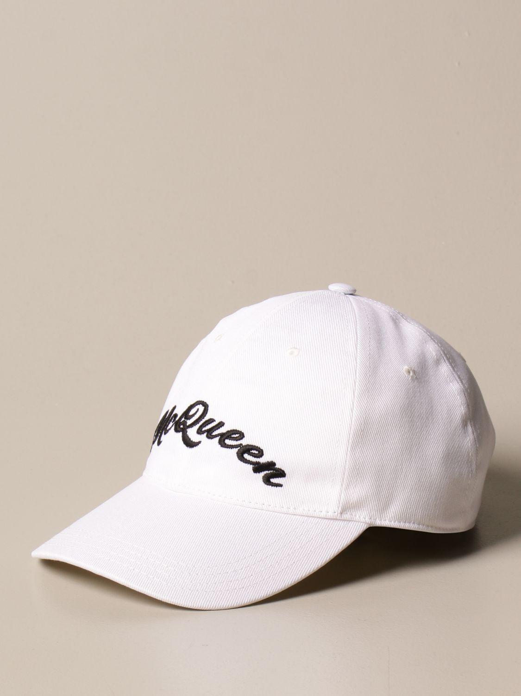 Hat Alexander Mcqueen: Alexander McQueen baseball cap with logo white 1
