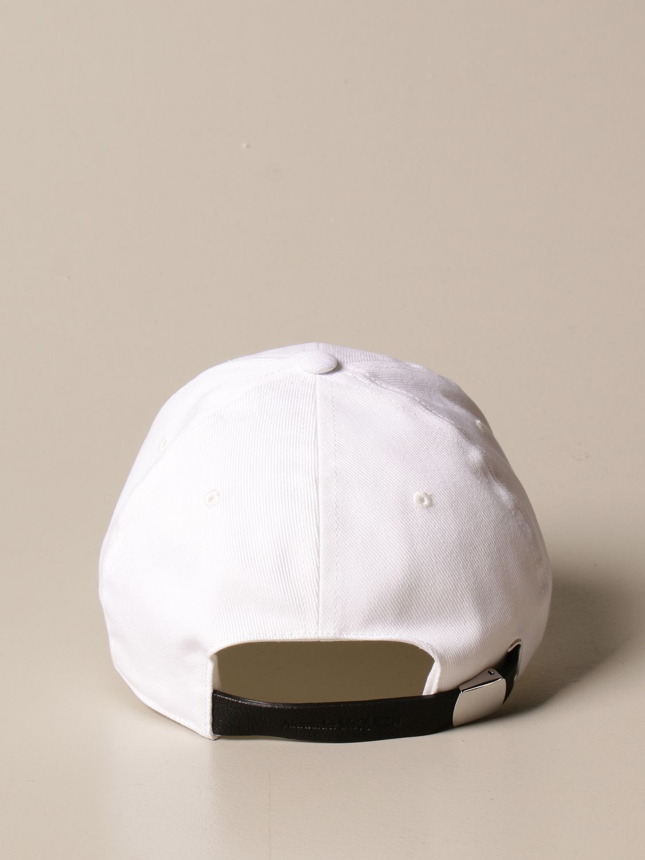 Hat Alexander Mcqueen: Alexander McQueen baseball cap with logo white 3