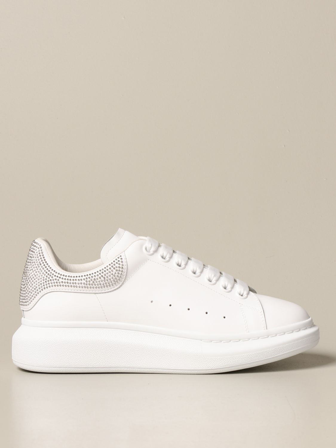 Sneakers Alexander Mcqueen: Alexander McQueen sneakers in leather with micro studs white 1