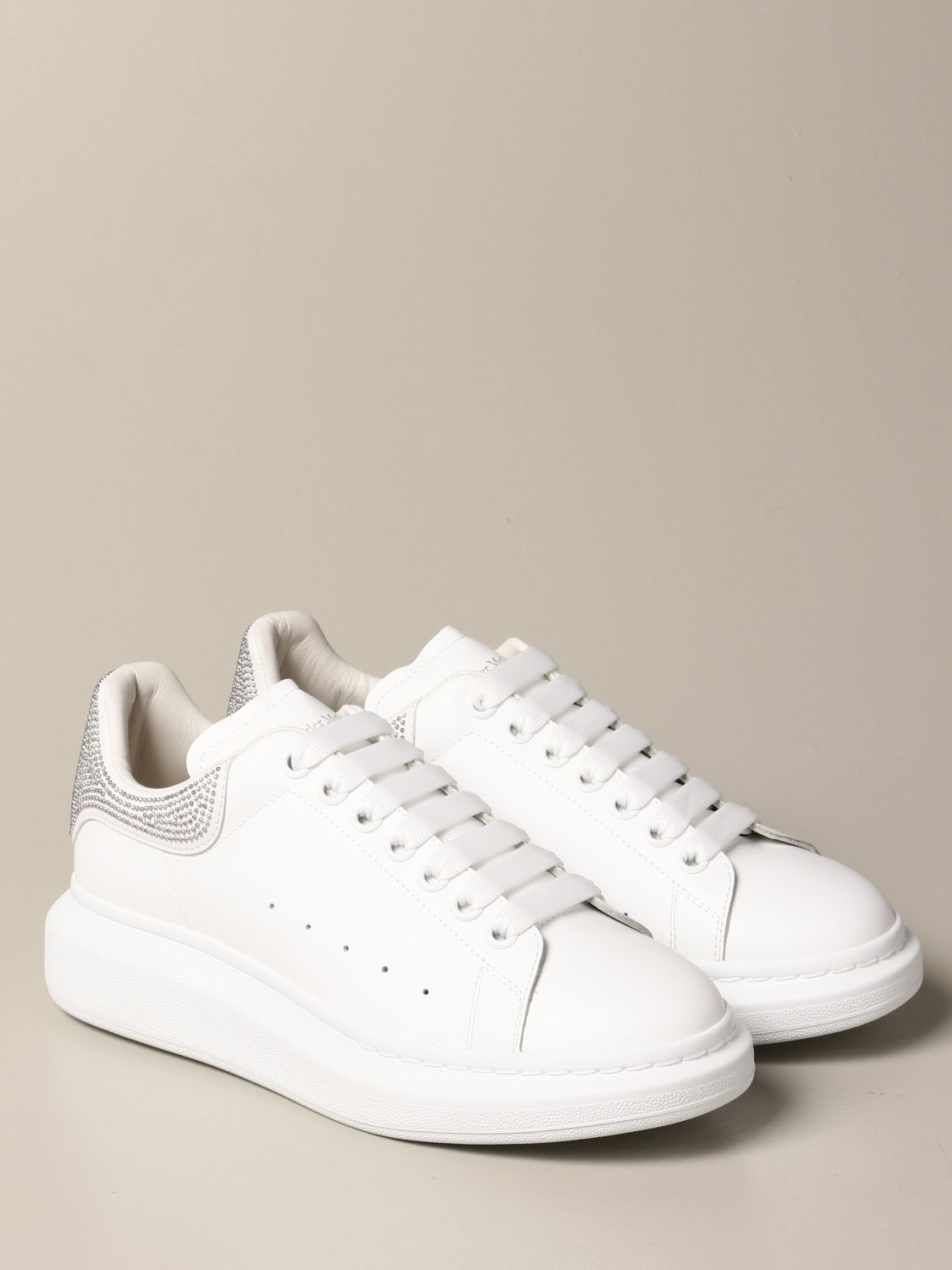 Sneakers Alexander Mcqueen: Alexander McQueen sneakers in leather with micro studs white 2