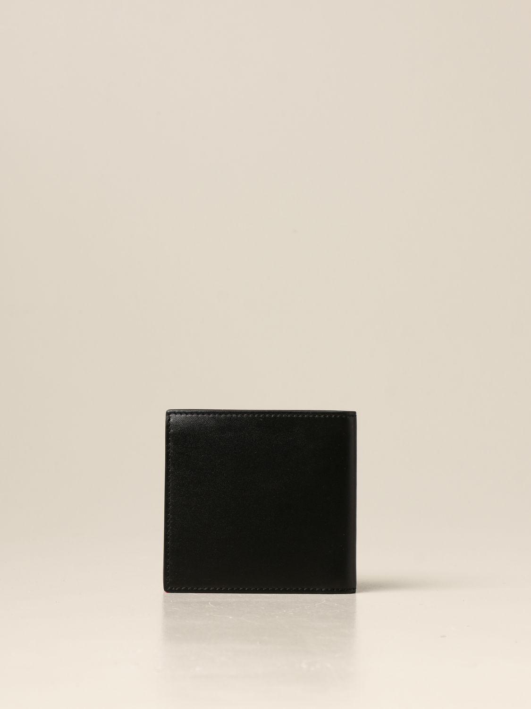 Portafoglio Alexander Mcqueen: Portafoglio Alexander McQueen in pelle con logo nero 3