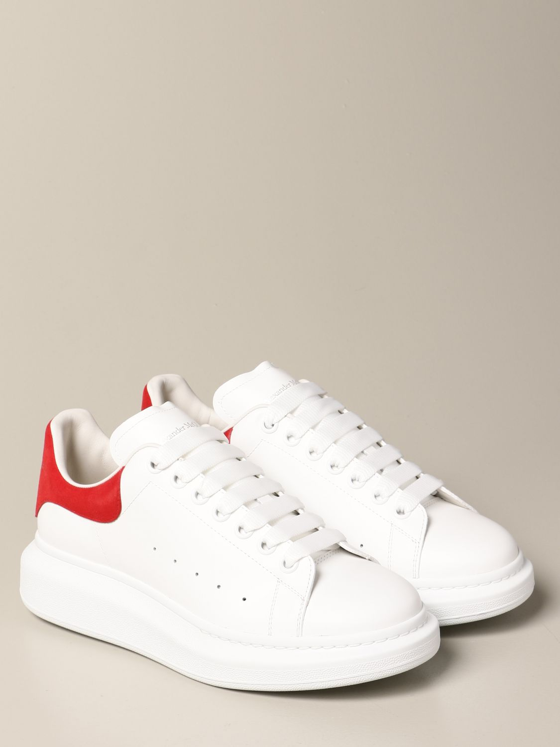 Trainers Alexander Mcqueen: Alexander McQueen trainers in leather with logo white 2