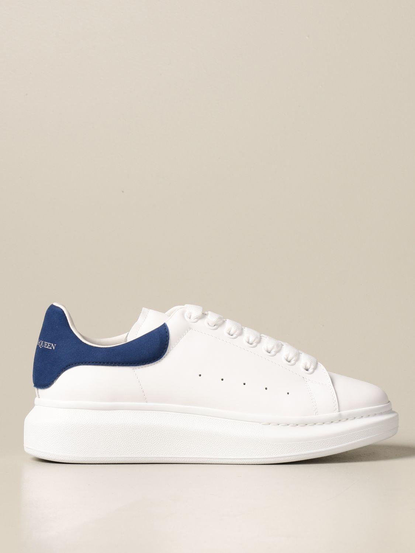 Sneakers Alexander Mcqueen: Sneakers Alexander McQueen in pelle con logo bianco 1 1