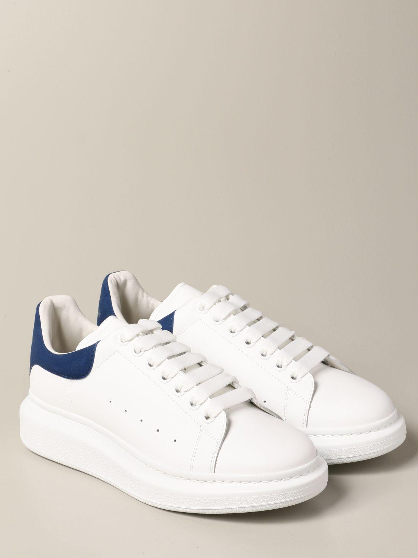 Sneakers Alexander Mcqueen: Sneakers Alexander McQueen in pelle con logo bianco 1 2