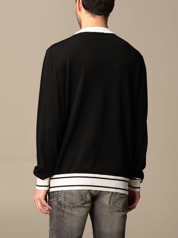 Jumper Balmain: Balmain crewneck sweater with logo black 3