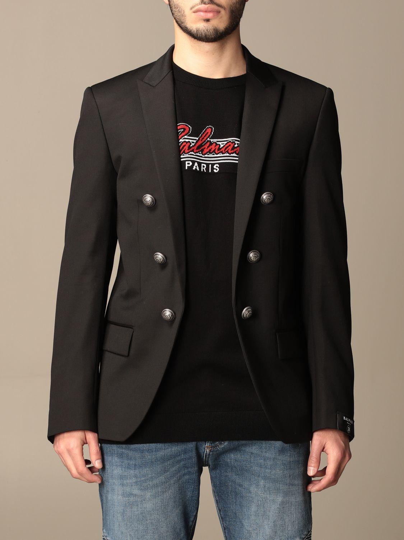 Blazer Balmain: Balmain jacket with metal buttons black 1