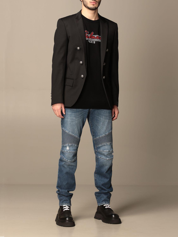 Blazer Balmain: Balmain jacket with metal buttons black 2