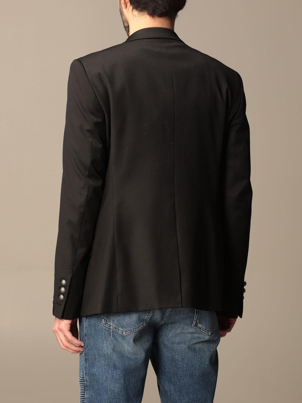 Blazer Balmain: Balmain jacket with metal buttons black 3