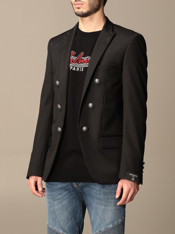 Blazer Balmain: Balmain jacket with metal buttons black 4