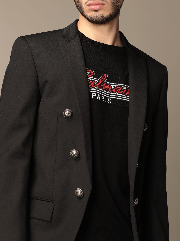 Blazer Balmain: Balmain jacket with metal buttons black 5