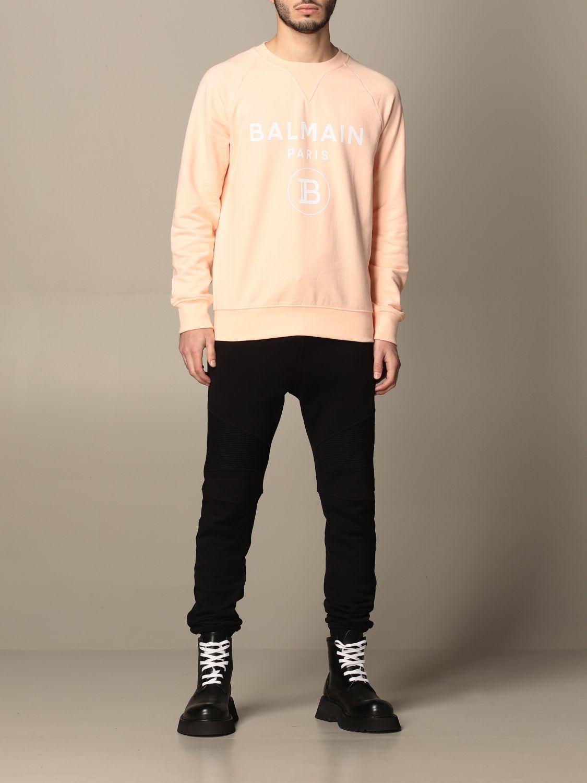 Trousers Balmain: Balmain cotton jogging trousers black 2